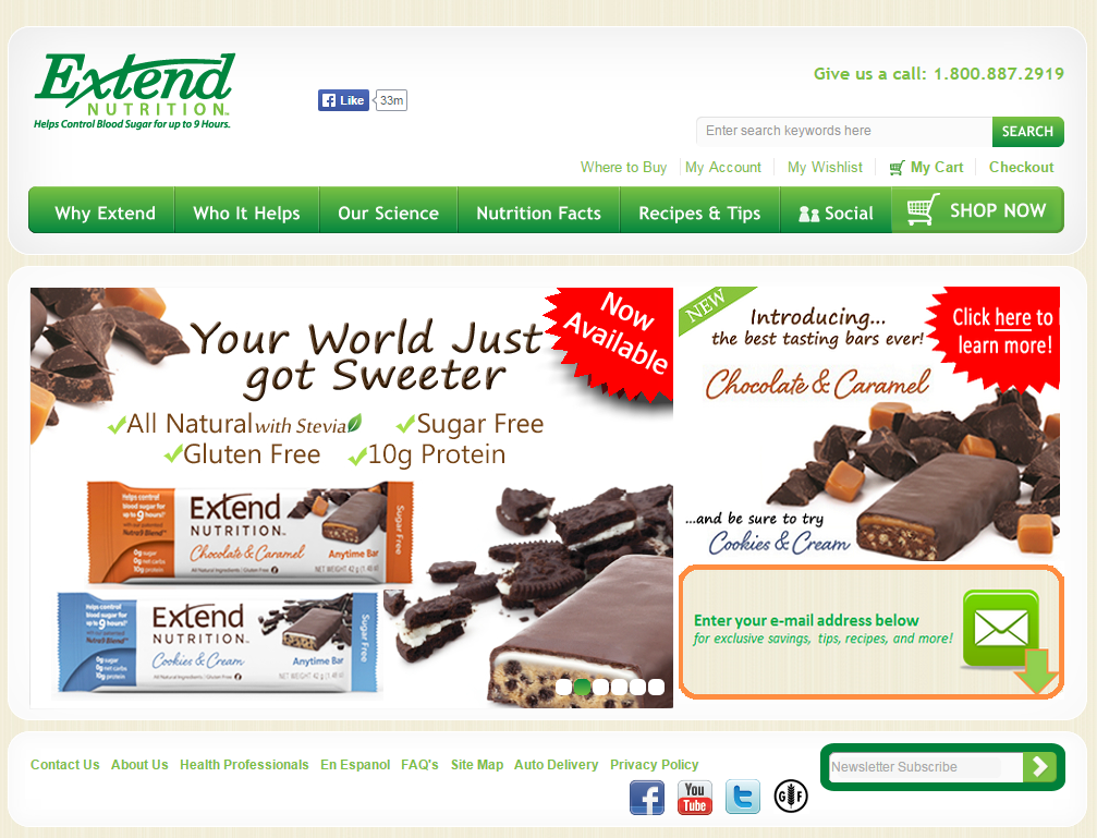 Extend_Nutrition-Homepage